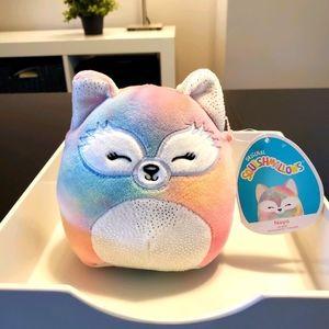 "Squishmallows ""Naya"" the fox, 5 inch plush"